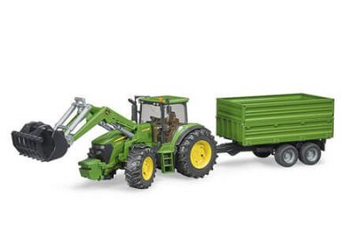 Bruder John Deere Tractor and Trailor Toys