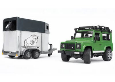 Bruder Landrover and Horsebox Toys